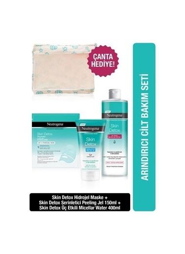 Neutrogena Skin Detox Arındırıcı Kil Maskesi 150 Ml +Peeling Jel 150 Ml+Micellar Water 400 Ml Renksiz